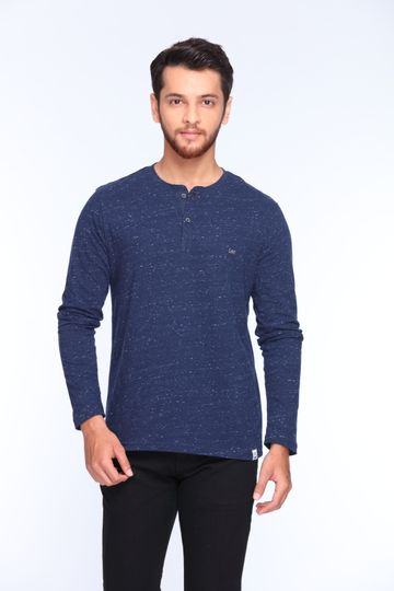 Lee | Lee Men's Blue Regular Fit Tshirt