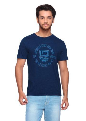 Lee | Lee Men's Navy Blue Regular Fit Tshirt - 101+