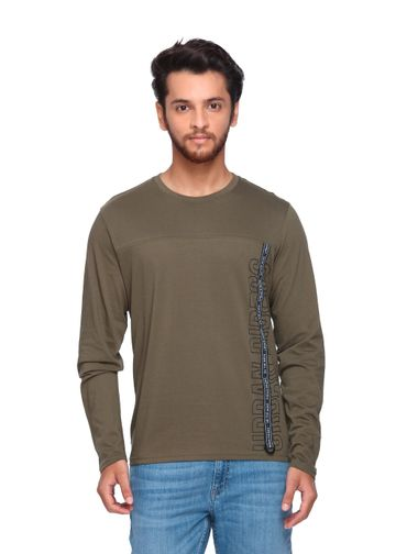 Lee | Lee Men's Olive Regular Fit Tshirt - Urban Riders