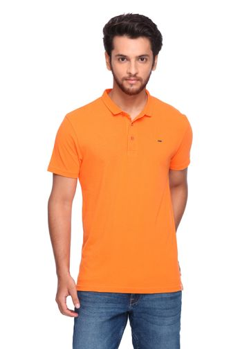 Lee | Lee Men's Orange Polo Regular Fit Tshirt