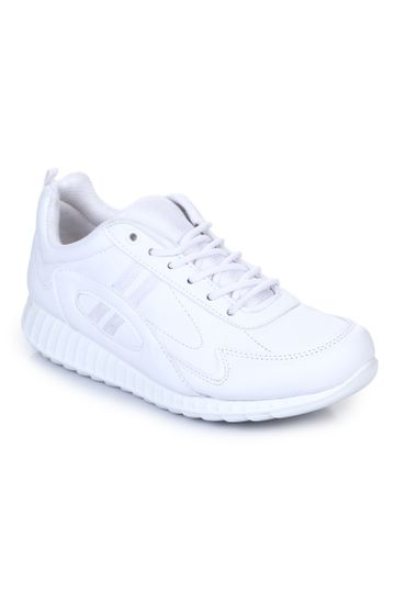Liberty | Liberty Force 10 White School Shoes 9906-02T_White For - Men