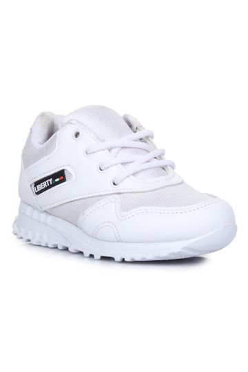 Liberty | Liberty Force 10 White School Shoes 9906-90GN_White For - Boys