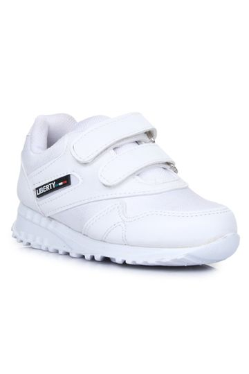 Liberty   Liberty Force 10 White School Shoes 9906-90VGN_White For - Boys