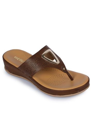 Liberty | Liberty HEALERS Slippers BMT-8_BROWN For - Women