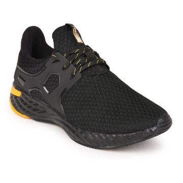 Liberty | Liberty Force 10 Black Sports Running Shoes CARLO For - Mens