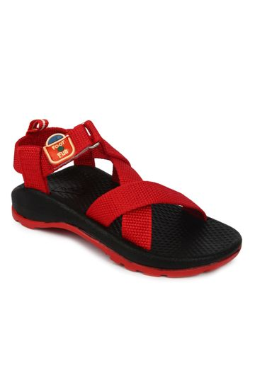 Liberty   Liberty Footfun Red Sandals Casual Wear CHILLY-2 For - Boys