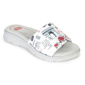Liberty | Liberty A-HA White Casual Slippers CUSHION-34_White For - Women