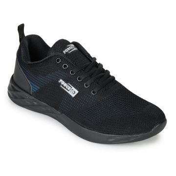 Liberty | Liberty Force 10 Black Sports Running Shoes EADY_Black For - Men