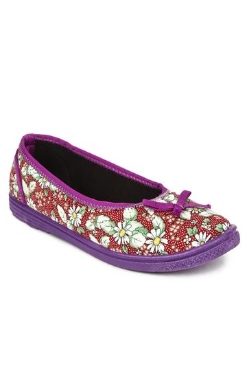 Liberty   Liberty Gliders Red Ballerinas FLORAL-27 For - Ladies