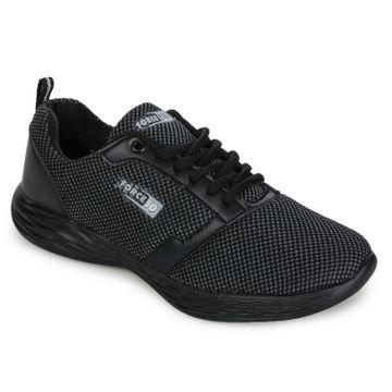 Liberty | Liberty Force 10 Black Sports Running Shoes KENTO_Black For - Men