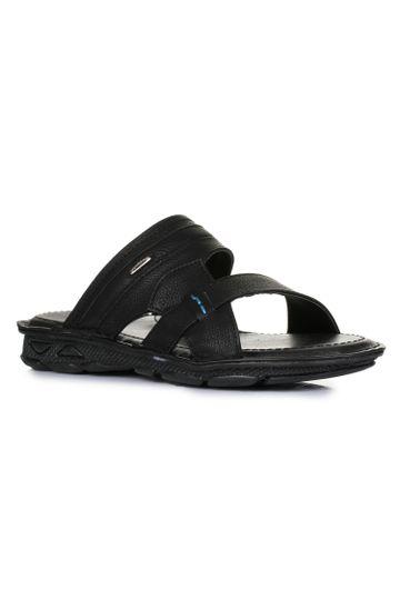 Liberty   Liberty Coolers Black Casual Slippers LPC-4_Black For - Men