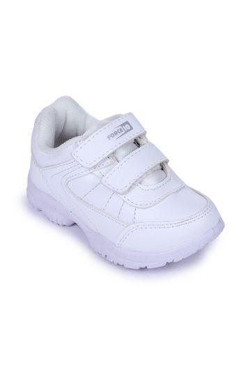 Liberty | Liberty Force 10 White School Shoes SCHZONE-DV_White For - Boys