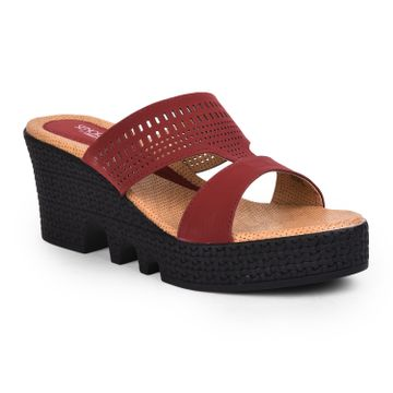 Liberty | Liberty Senorita Red Casual Slippers SHL-40_Red For - Women