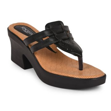 Liberty | Liberty Senorita Black Flip Flops SHL-44_Black For - Women