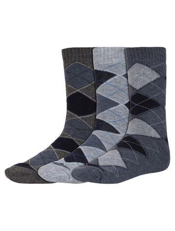 CREATURE | CREATURE Men's Warm Woolen Calf Length Socks (Multicolored)- Combo Pack of 3 Pairs