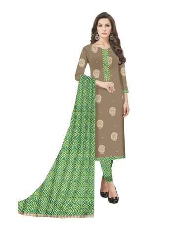GF's | GF's Block Printed Designer Unstitched Dress Materials for Women