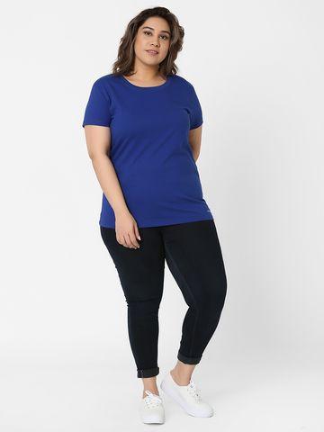 Marca Bold | Royal Cotton Embellished Basic T-Shirt