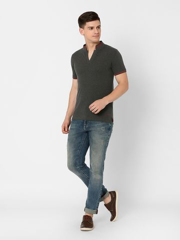 MARCA DISATI | Band Collared Henley T-Shirt