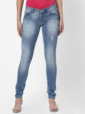 MARCA DISATI | Torn Look Midrise Washed Jeans