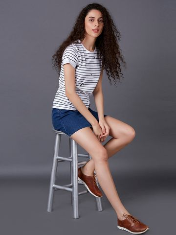 MARCA DISATI | Striped Patterned T-Shirt