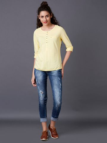 MARCA DISATI | Tender Yellow Solid Top