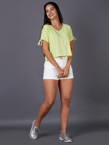 MARCA DISATI | Tie-up Sleeve Crop Tee