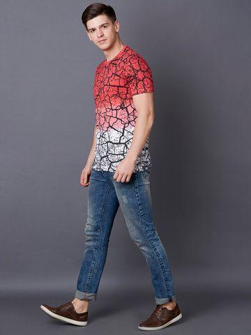 MARCA DISATI | Red Printed T-Shirt