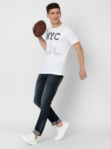 MARCA DISATI   NYC Embroidered Applique T-Shirt