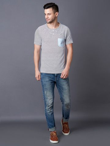 MARCA DISATI | Stripe Henley T-Shirt