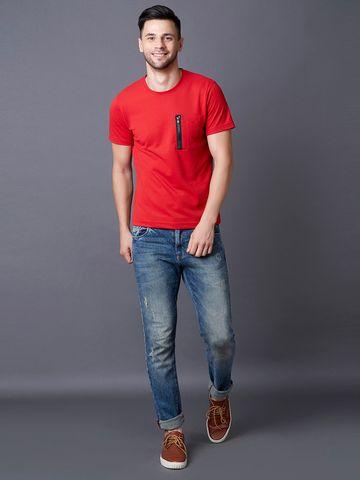 MARCA DISATI | Solid Zipper Detail T-Shirt
