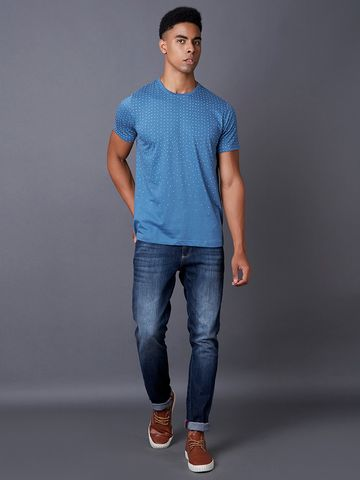 MARCA DISATI | Blue Printed T-Shirt