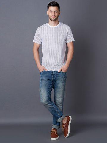 MARCA DISATI | Vertical Stripe Print T-Shirt