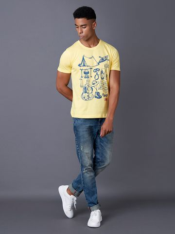 MARCA DISATI | Tender Yellow Printed T-Shirt