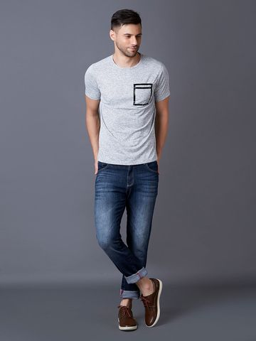 MARCA DISATI | Solid Chest Pocket T-Shirt