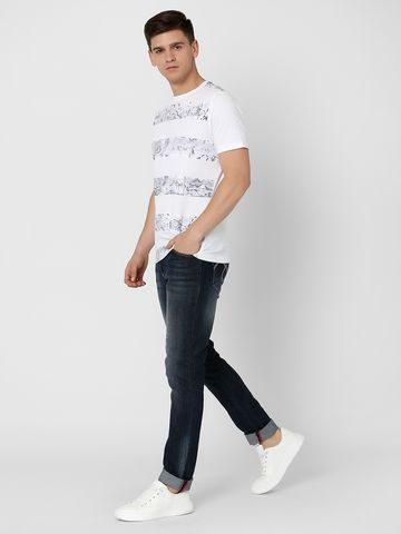 MARCA DISATI | Printed Striped Panel T-shirt