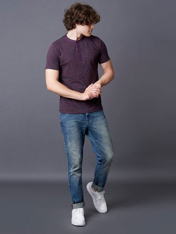 MARCA DISATI | Textured Henley T-Shirt