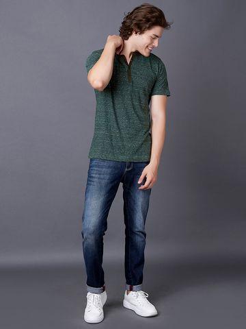 MARCA DISATI | Contrast Henley T-Shirt