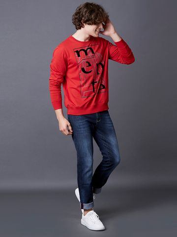 MARCA DISATI | Red Nova Printed Sweatshirt