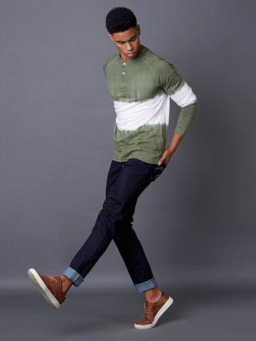 MARCA DISATI | Olive Colourblock T-Shirt