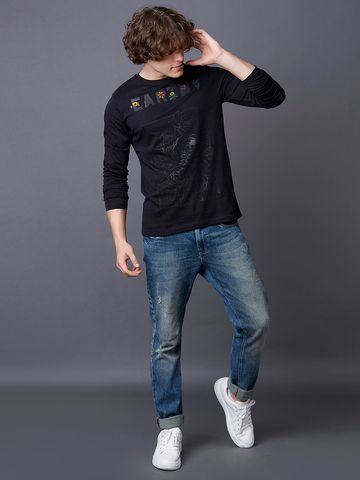 MARCA DISATI | Black Printed T-Shirt