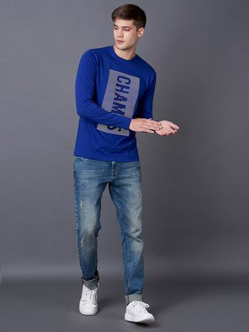 MARCA DISATI | Blue Printed T-Shirt