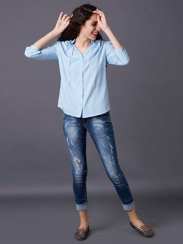 MARCA DISATI | Embroidered Mandarin Collar Shirt