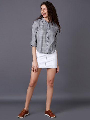 MARCA DISATI   Black Checked Casual Shirt