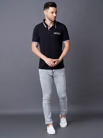 MARCA DISATI | Black Solid Polo T-Shirt