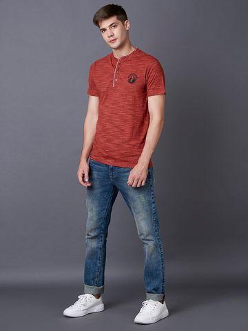 MARCA DISATI | Henley Textured T-shirt