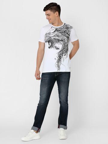 MARCA DISATI | Lion Placement Print T-Shirt