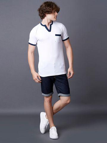 MARCA DISATI | Henley Contrast Collar T-shirt