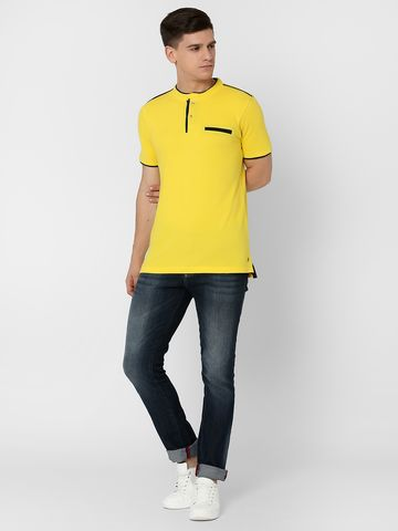 MARCA DISATI | Henley Contrast Placket T-shirt