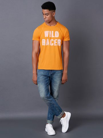 MARCA DISATI | Raw Edges Flock Print T-shirt