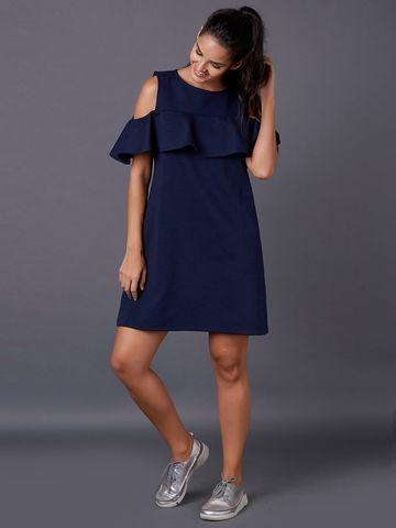 MARCA DISATI   Cold Shoulder Knee-Length Dress